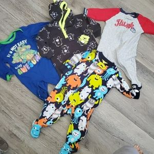 6 month Carters Nickolodeon Onesie Lot of 4